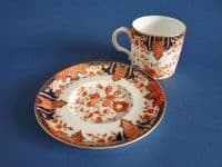 Royal Crown Derby 'Imari Fern' Pattern 2712 Coffee Can and Saucer c1903